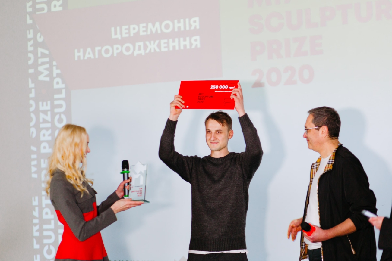 Mykhailo Alekseyenko is the main winner of the first M17 Sculpture Prize!